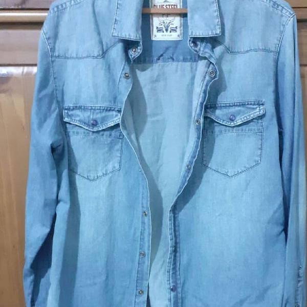 Camisa manga comprida jeans