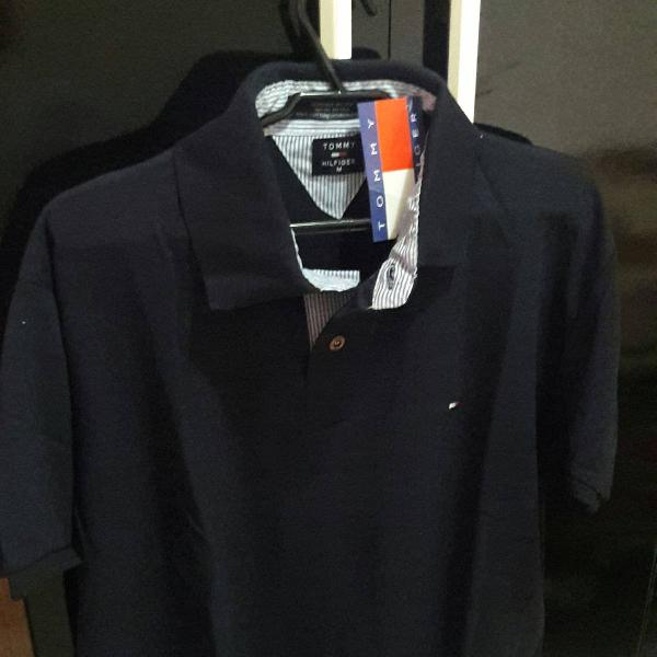 Camisa polo azul marinho tommy hifilger