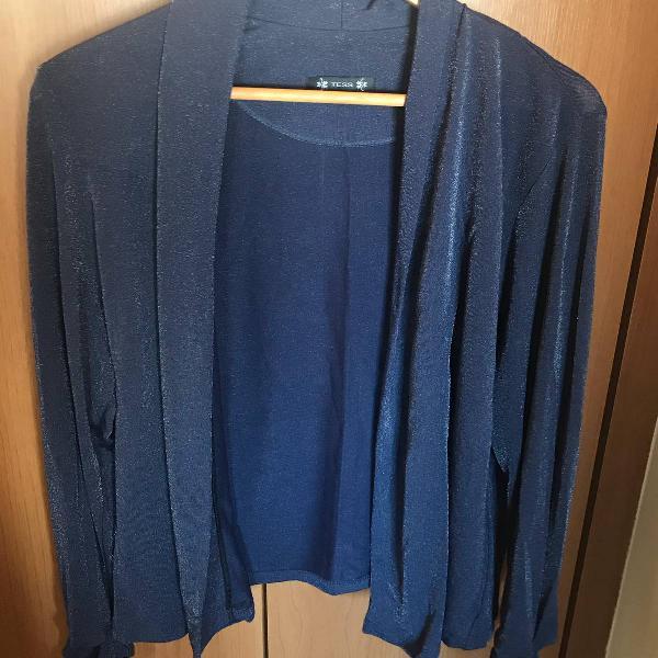 Casaco azul metalizado
