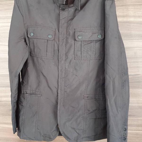 Casaco marrom impermeável casual wear by zara man tamanho