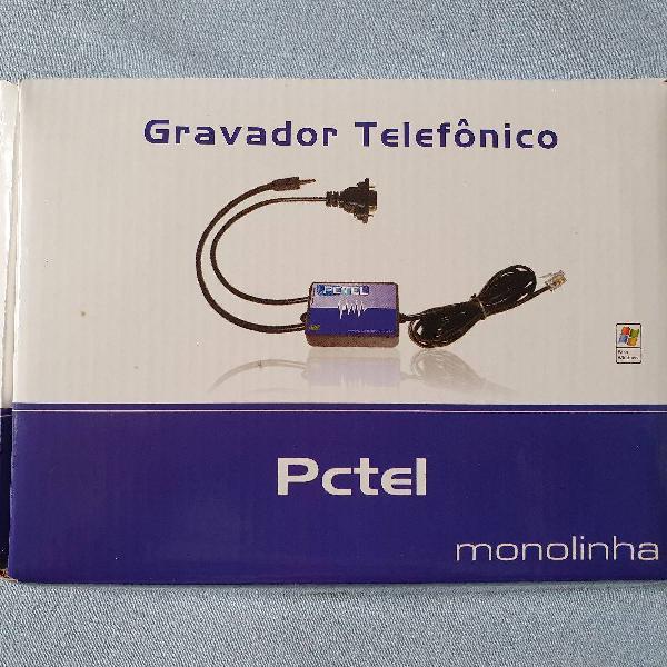 Gravador telefônico monolinha