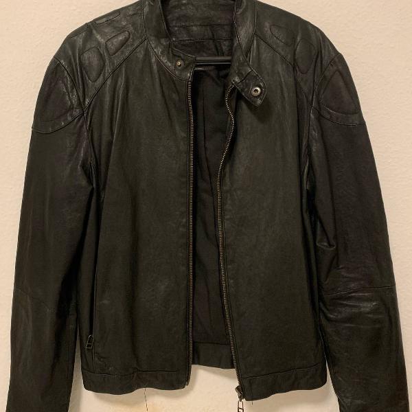 Jaqueta de couro osklen
