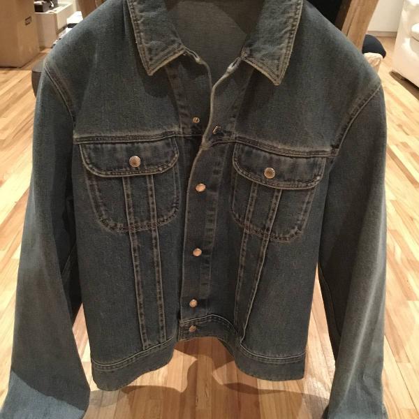 Jaqueta jeans dolce gabbana masculina tamanho g
