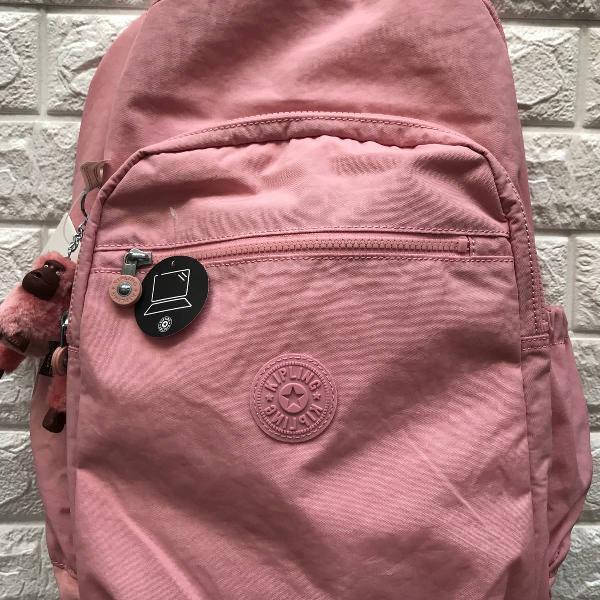 gran venta renombre mundial tienda de liquidación mochila kipling seoul foram rosa