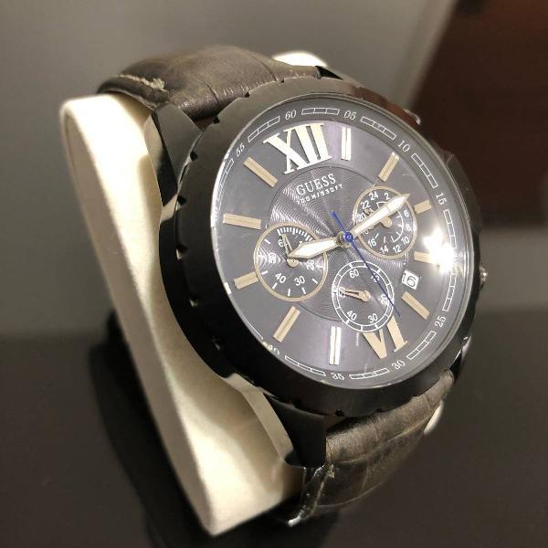 Relógio guess - pulseira couro