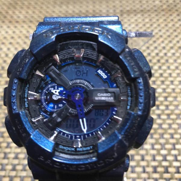 Relogio casio g shock 5146 azul metálico