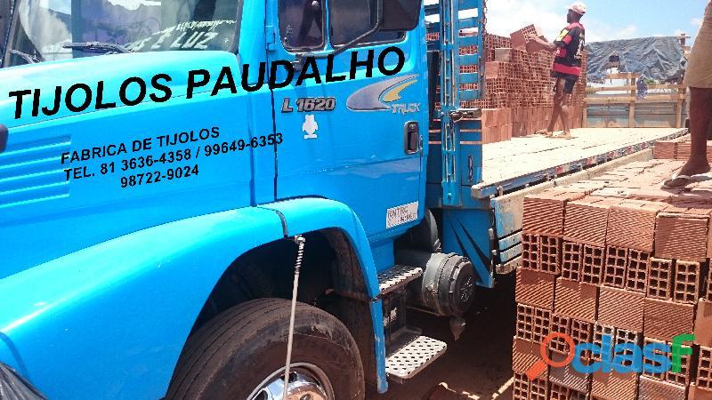 Tijolos em promoção direto da olaria para ibura jaboatao pe.