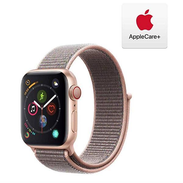 Apple relógio série 4 dourado 40mm (gps+cellular) c/