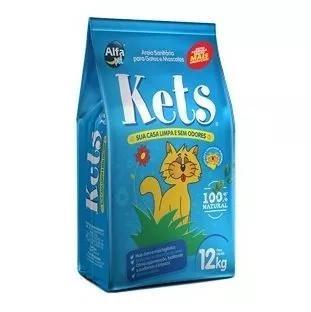 Areia higiênica kets para gatos - 12kg