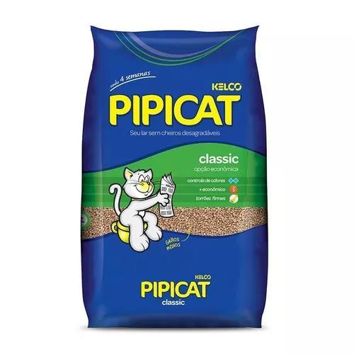 Areia higiênica pipicat classic para gatos - 12kg