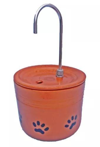 Bebedouro fonte gatos 4 l com patinhas cerâmica bivolt