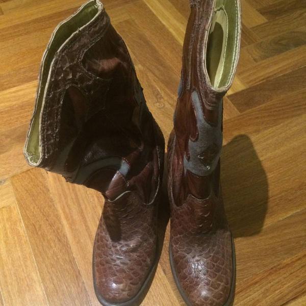 Bota country bico redondo