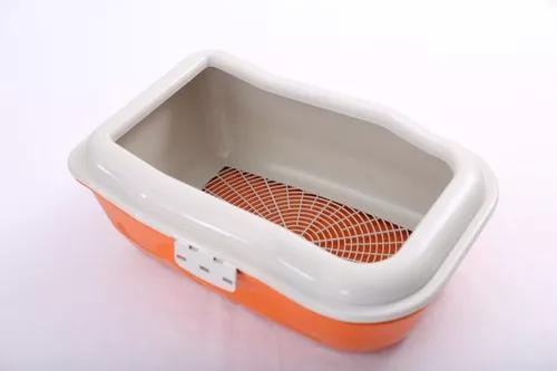 Caixa de areia bandeja furba gatos higiênica 3 camadas