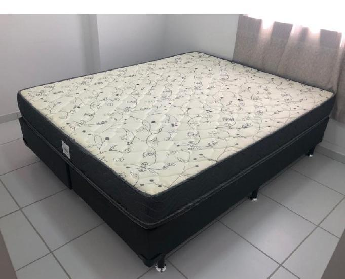 Cama box + colchão queen size (ortobom)