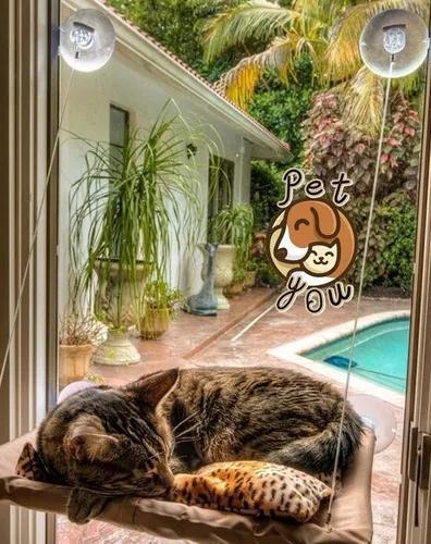 Cama rede de janela para gatos! cama suspensa - d