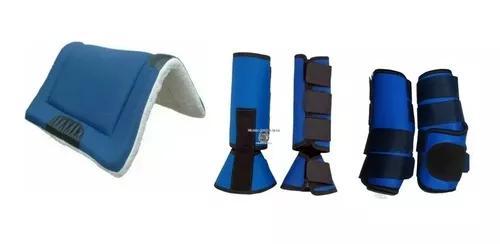 Cloche caneleira+ boleteira + manta quarto de milha - azul