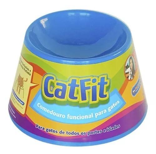 Comedouro alto para gatos pet games cat fit