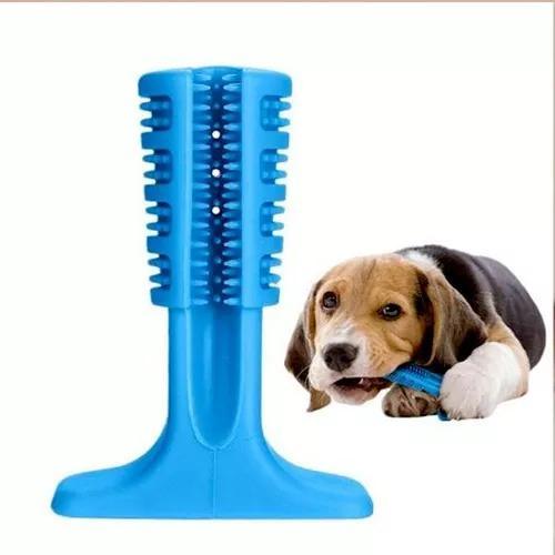 Escova dentes mordedor canina bucal cachorro cao pet limpeza