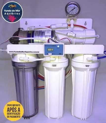Filtro osmose reversa 100gpd + tds inline + manômetro