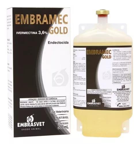 Ivermectina gold 3,6 % bovinos vacas bezerros fr 500 ml