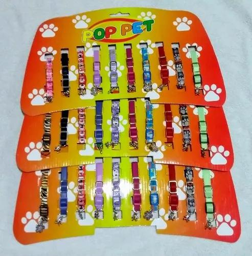 Kit 10 coleiras para gatos