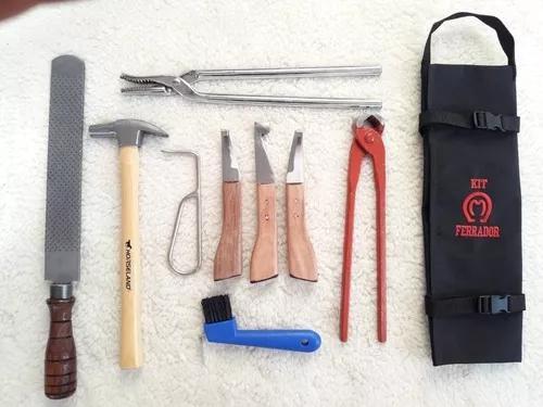 Kit profissional de ferramentas para ferrador de cavalos