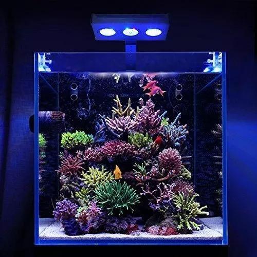 Luminaria aqua knight 30w led aquario marinho