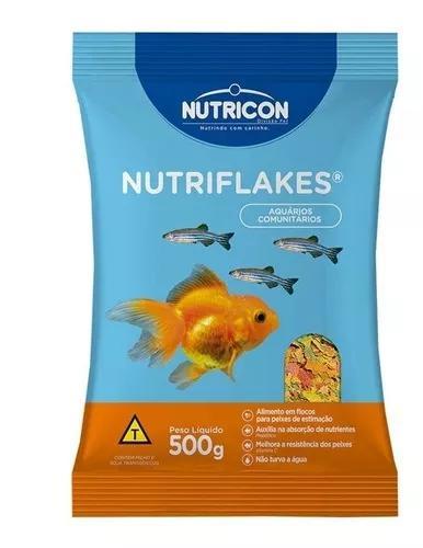 Ração flocos p/ peixes ornamentais nutriflakes 500g