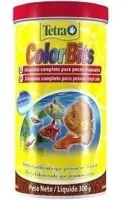 Ração tetra color bits 300g tropical granules