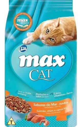 Ração total max cat sabores do mar para gatos adultos -
