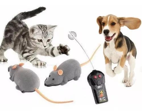 Rato eletrônico brinquedo pet gato cachorro controle r