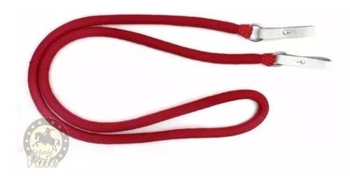 Rédea grossa de lã vermelha ou preta argolas inox oferta