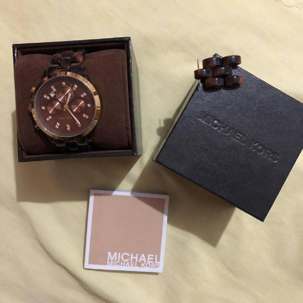 Relógio michael kors 5038 tartaruga