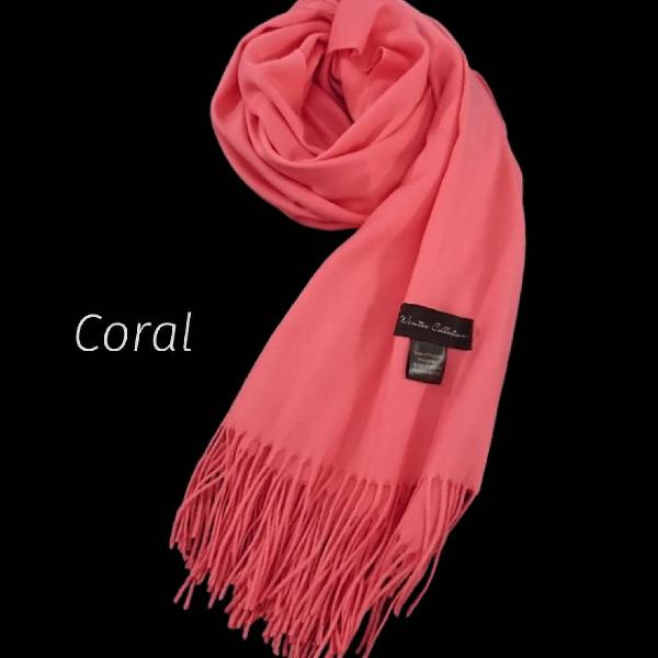 Cachecol novo coral