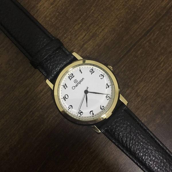 Relógio de couro