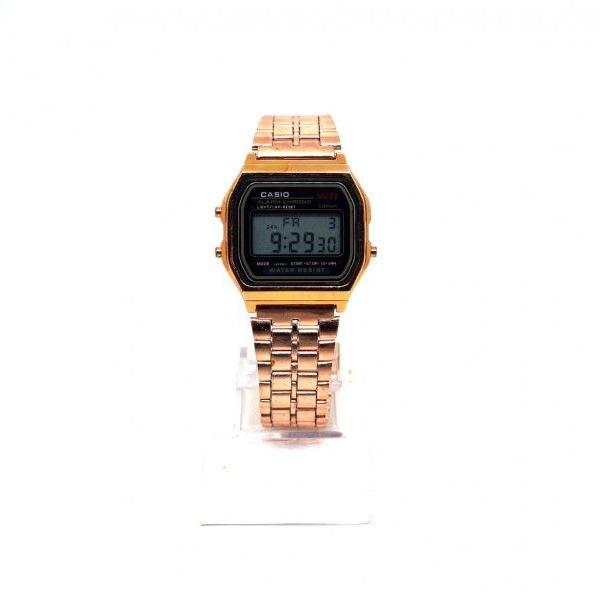 Relógio digital casio bronze