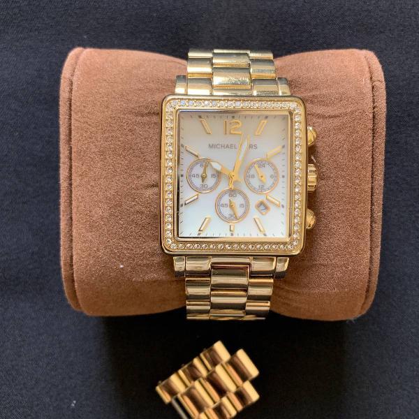 Relógio dourado michael kors