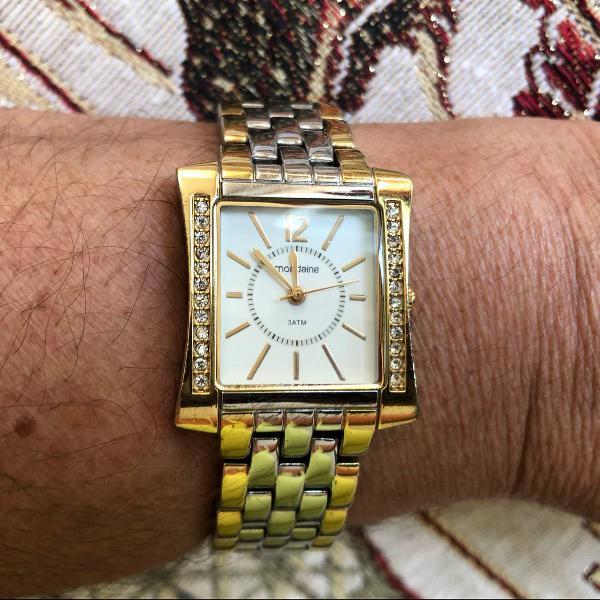 Relógio feminino mondaine dourado e prateado