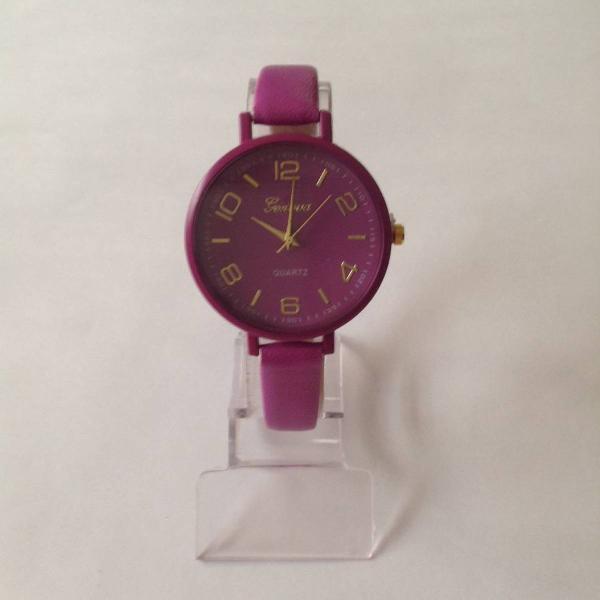 Relógio feminino redondo roxo