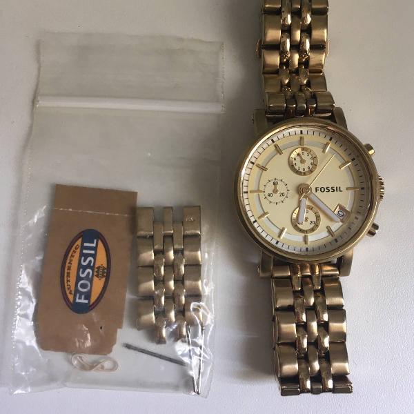 Relógio fóssil es2197 pouquíssimo usado