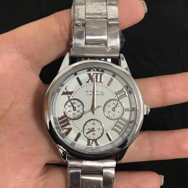 Relógio geneva prata