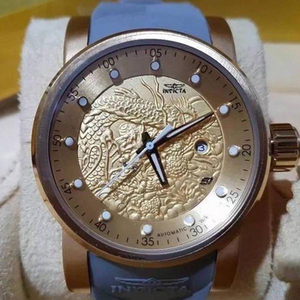 Relógio invicta yakuza s1 dragon automatico cinza