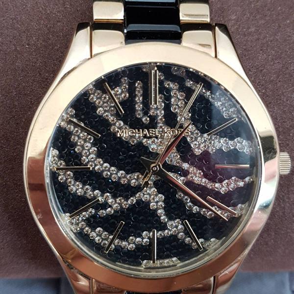 Relógio michael kors original dourado e preto