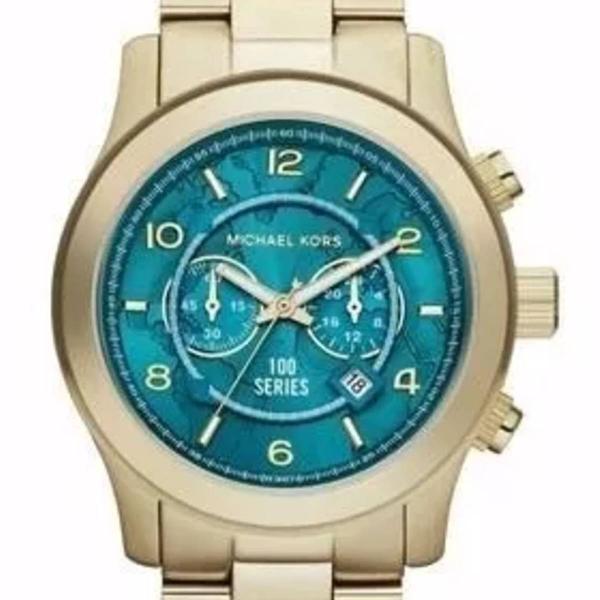 Relógio mk michael kors mk8315 dourado mund caixa e manual