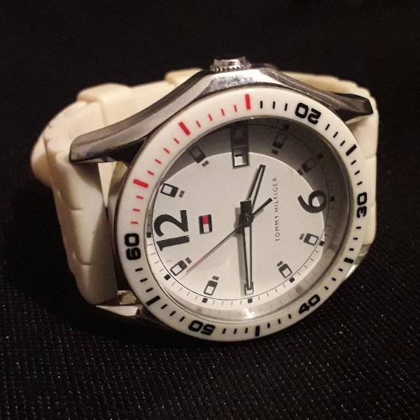 Relógio tommy hilfiger branco