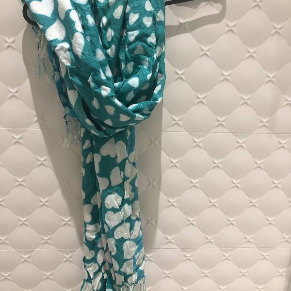 Um cachecol + um lenço