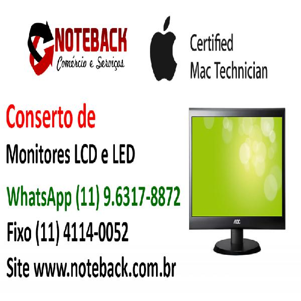 Assistência técnica monitor lcd led