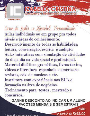 Aulas de inglês e espanhol particulares em belo horizonte