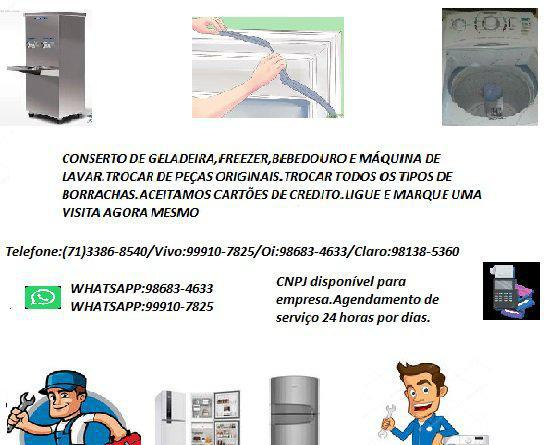 Conserto de geladeira freezer e etc... acdg refrigeração