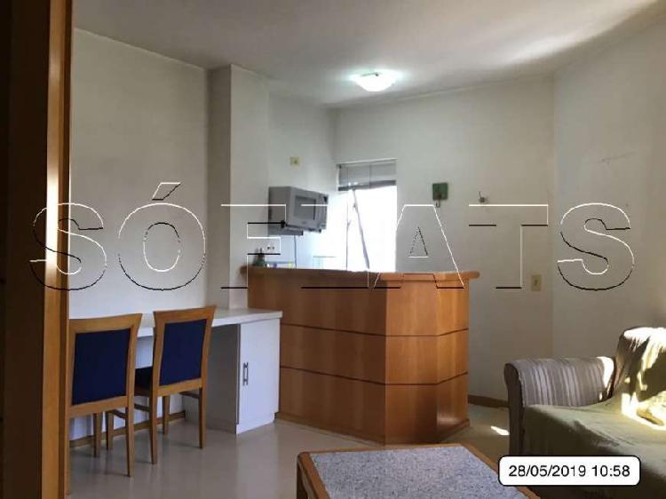 Flat com 1 quarto para alugar, 33 m² por r$ 1.500/mês cod.